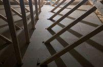 Loft boarding in a new build