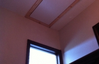Completed loft hatch