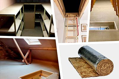 photo montage of loft products