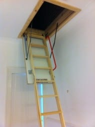 Image of Timber Folding Loft Ladder