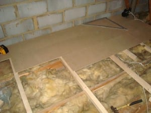 Loft boards with insulation