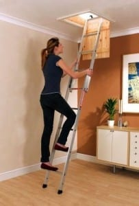 Basic 2 section loft ladder