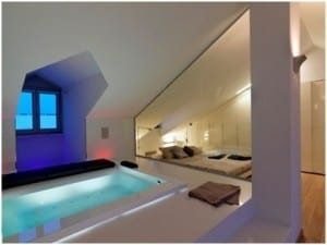 Hot tub attic conversion