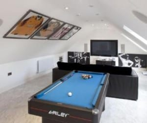 Loft conversion games room