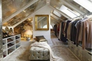Loft storage - wardrobes