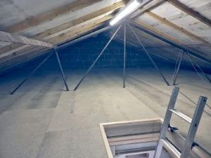 A fully boarded loft