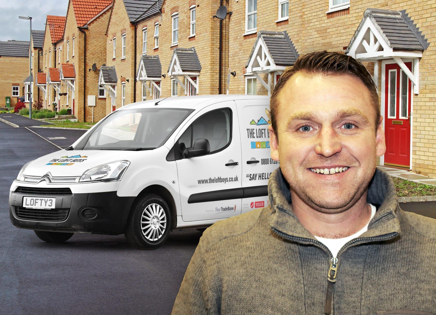 Dean Taylor in front of van