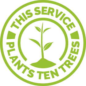 this service plants 10 trees roundel
