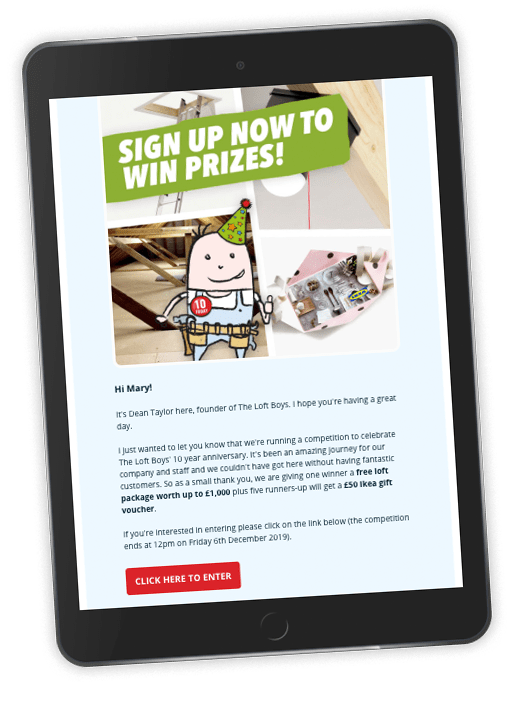 Screenshot of the TLB newsletters in an iPad