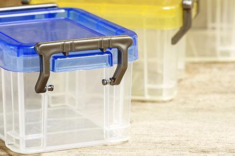 see-through plastic storage boxes