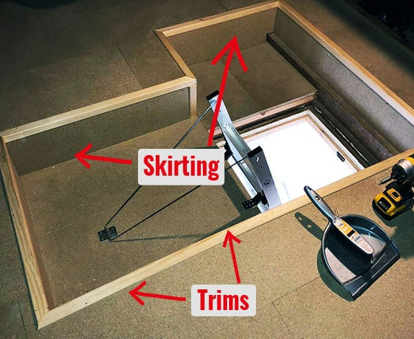 finishing – skirting and trimming
