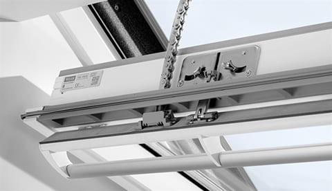 velux integra white roof window