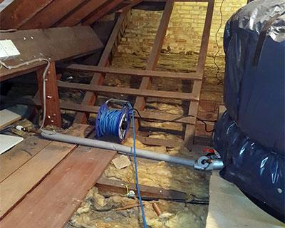 photo of inside loft before installation 2