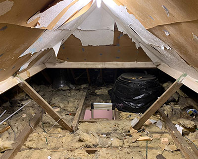 photo of inside loft before installation